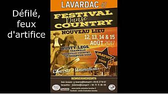 12 au 15.08.17 #Lavardac 6è et dernier épisode Festival Danse #country : défilé et feux d'artifice #tvlocale.fr